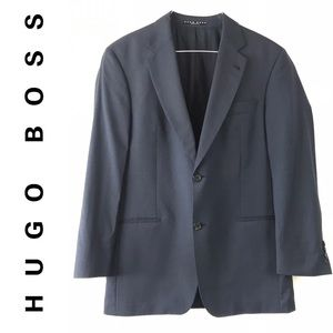 Hugo Boss Blue Gray Suit Blazer Jacket Sport Coat